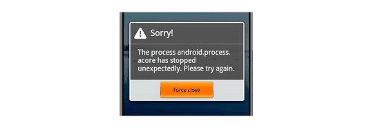 V aplikaci pro Android došlo k chybě